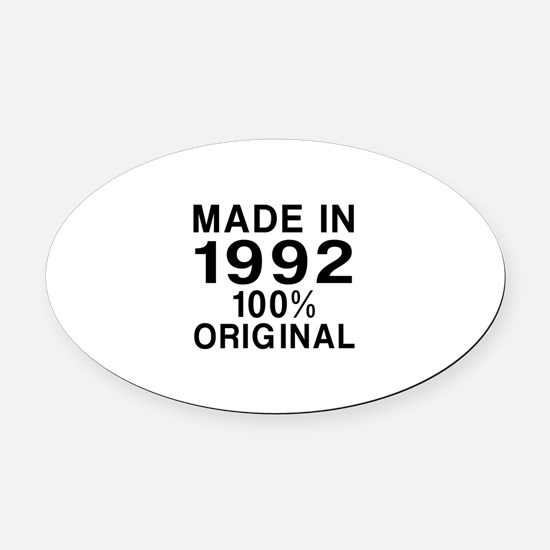 Made In 1992 Oval Car Magnet