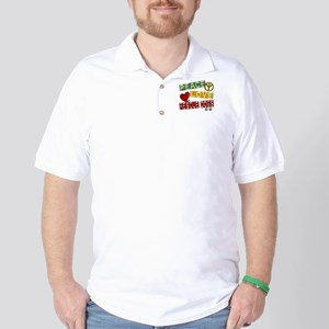 Peace Love Rescue Dogs Golf Shirt