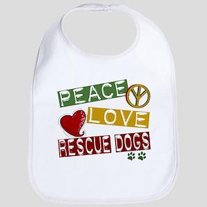 Peace Love Rescue Dogs Bib