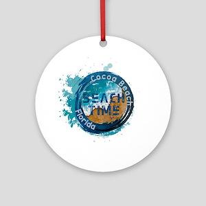 Florida - Cocoa Beach Round Ornament