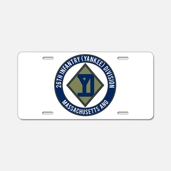 26th Infantry Mass ANG Aluminum License Plate