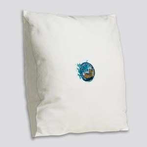 Florida - Clearwater Beach Burlap Throw Pillow
