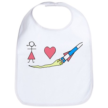 Girls Heart Rockets Bib