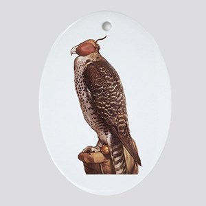 Holbein's Falcon Oval Ornament