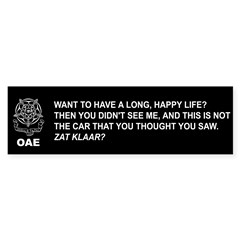 OAE Sticker (Bumper)