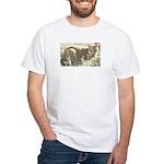 Tabby Cat White T-Shirt