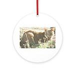 Tabby Cat Ornament (Round)