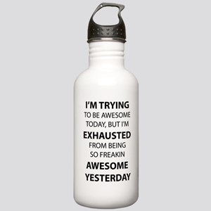 I Am Trying to Be Awesome Sports Water Bottle