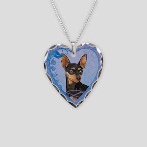 Miniature Pinscher Necklace Heart Charm