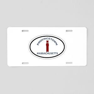 Provincetown MA - Oval Design. Aluminum License Pl