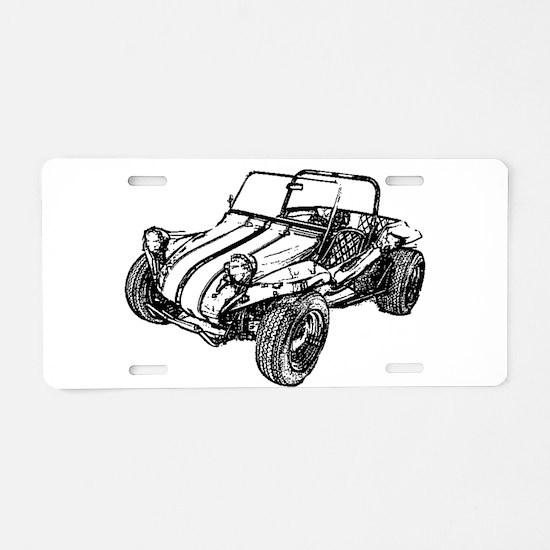 Retro Dune Buggy Aluminum License Plate