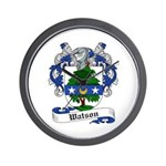 Watson Coat of Arms / Family Crest Wall Clock
