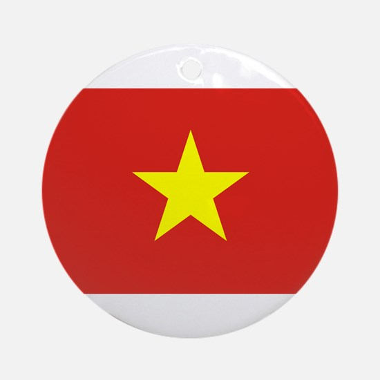 Flag of Vietnam Ornament (Round)