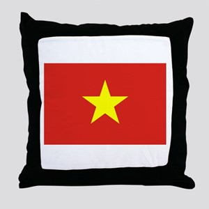 Flag of Vietnam Throw Pillow