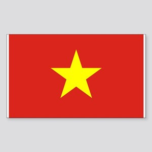 Flag of Vietnam Sticker (Rectangle)