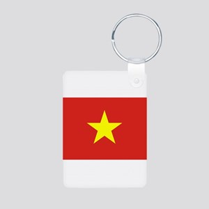 Flag of Vietnam Aluminum Photo Keychain