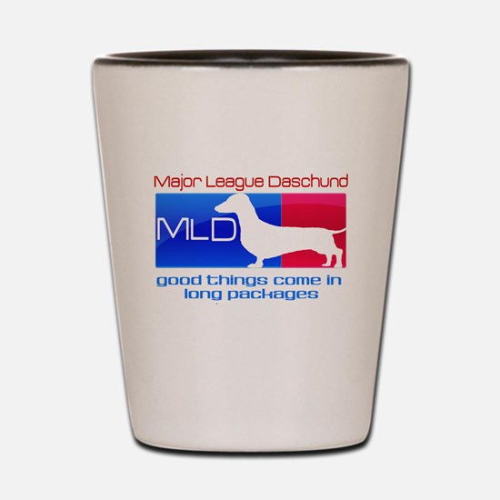 Major League Daschund Shot Glass