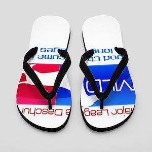 Major League Daschund Flip Flops