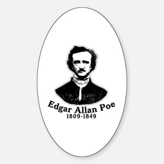 Edgar Allan Poe Tribute Sticker (Oval)