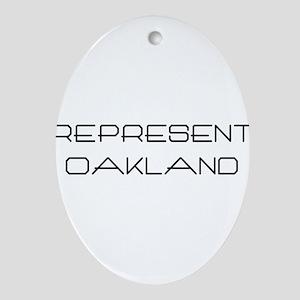 Represent Oakland (www.repoak Ornament (Oval)