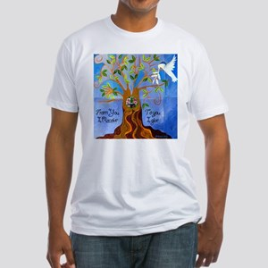Tree of Life Design Fitted T-Shirt