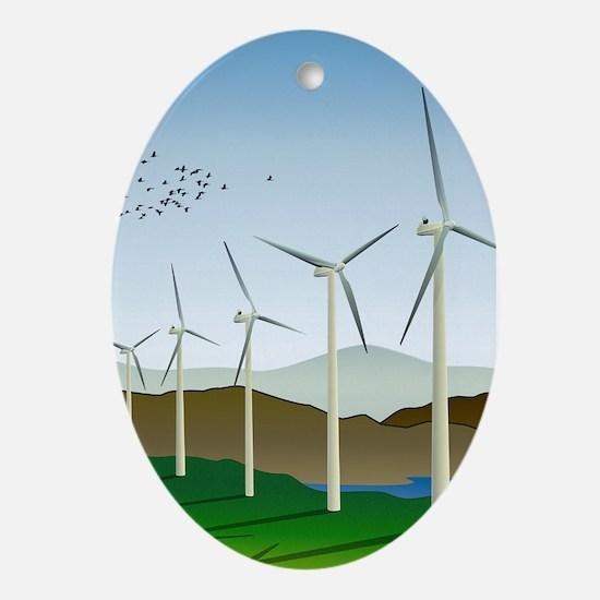 Wind Turbines Ornament (Oval)