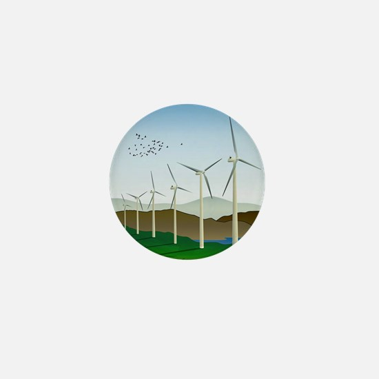 Wind Turbines Mini Button