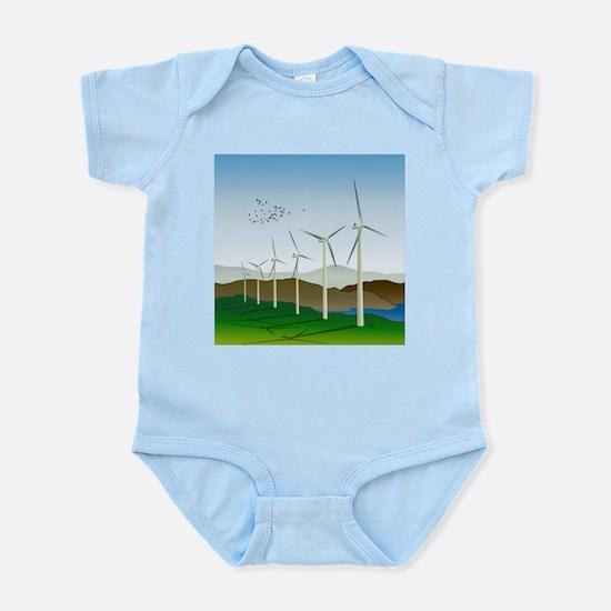 Wind Turbines Infant Bodysuit