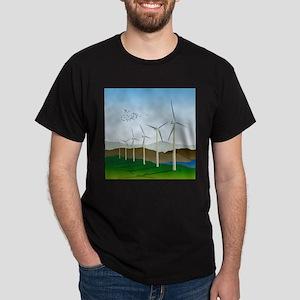 Wind Turbines Dark T-Shirt