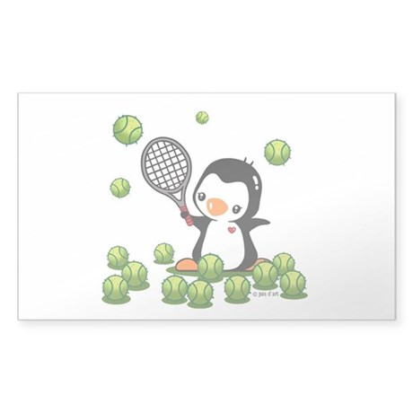 Tennis (22) Sticker (Rectangle)