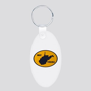 ALMOST HEAVEN Aluminum Oval Keychain