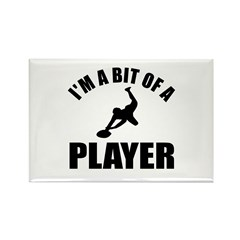 I'm a bit of a player rugby Rectangle Magnet (100
