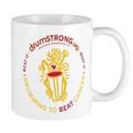 DRUMSTRONG White Logo Mug