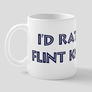 Rather be Flint Knapping Mug