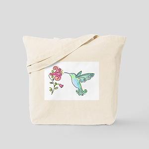 Hummingbird and Flower Tote Bag