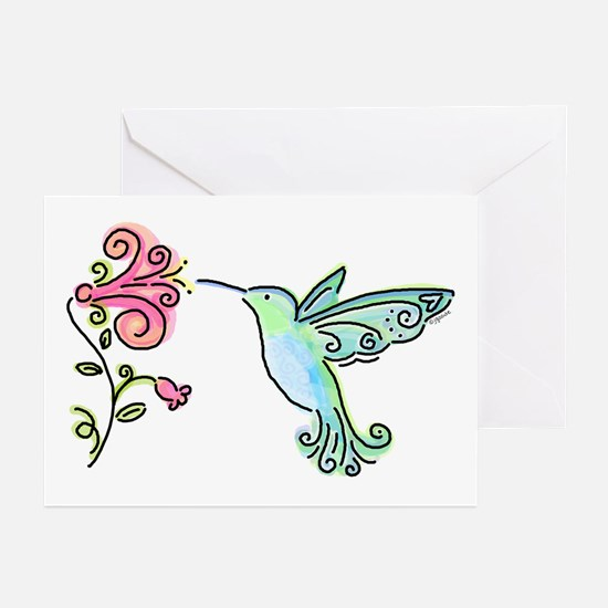 Hummingbird and Flower Greeting Cards (Package of