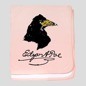 The Raven by Edgar Allan Poe baby blanket