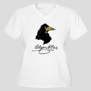 The Raven by Edgar Allan Poe Women's Plus Size V-N