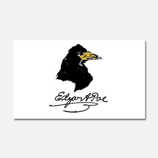 The Raven by Edgar Allan Poe Car Magnet 20 x 12