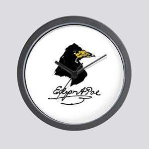 The Raven by Edgar Allan Poe Wall Clock