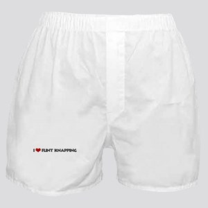 I Love Flint Knapping Boxer Shorts