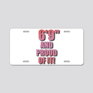 6 foot 9 Aluminum License Plate