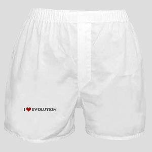 I Love Evolution Boxer Shorts