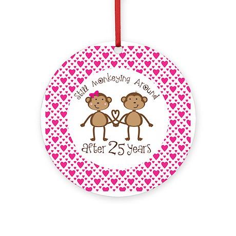 25th Anniversary Monkey Love Ornament