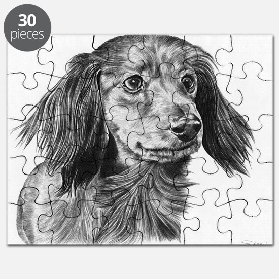 Longhaired Dachshund Pencil Puzzle