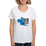 Bob Lives! Women's V-Neck T-Shirt