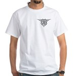 Maori Tribal Heart White T-Shirt