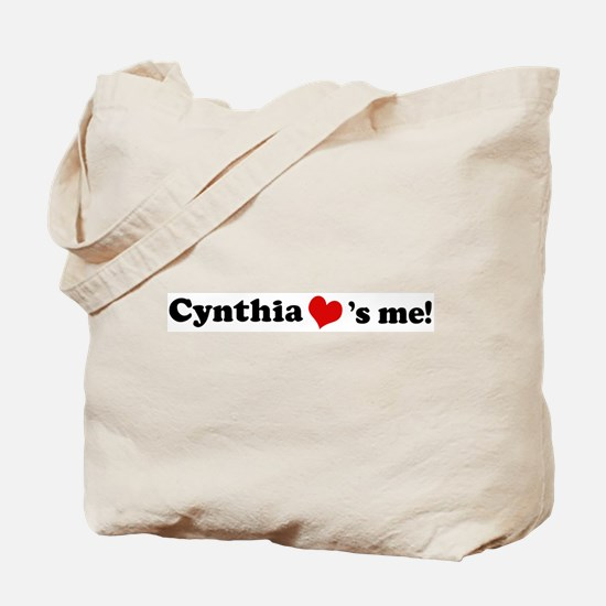 Cynthia loves me Tote Bag