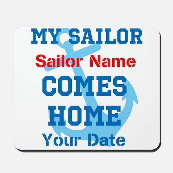 Customizable Sailor Homecomin Mousepad