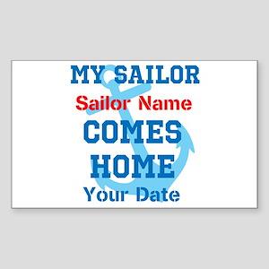 Customizable Sailor Homecomin Sticker (Rectangle)